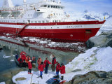 Passengers Take Small Boat to Cruise Ship Anchored Close Inshore,Antarctic Peninsula, Antarctica Photographic Print by Renner Geoff