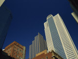 Old Brick Building Contrasts with Modern Skyscrapers in Dallas, Texas, USA Photographic Print by Rennie Christopher