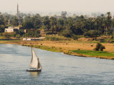 River Nile, Luxor, Thebes, Egypt, North Africa, Africa Photographic Print by Schlenker Jochen