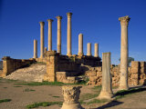 Tell, Thuburbo Maius, the Roman Capitol Dating from 168 AD, Tunisia, North Africa, Africa Photographic Print by Short Michael