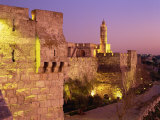 Walls and the Citadel of David in the Old City of Jerusalem, Israel, Middle East Photographic Print by Simanor Eitan