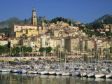 Menton, Alpes Maritimes, Cote D'Azur, Provence, France Photographic Print by Rainford Roy