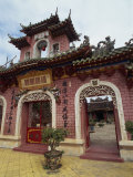 Exterior of a Chinese Temple with Ornate Roof and Walls in Hoi An, Vietnam, Southeast Asia Photographic Print by Alison Wright