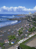 Playa Jardin, Puerto De La Cruz, Tenerife, Canary Islands, Spain Photographic Print by Tovy Adina