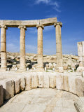 Oval Plaza, Colonnade and Ionic Columns, Jerash, a Roman Decapolis City, Jordan, Middle East Photographic Print by Tondini Nico