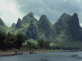 River Li Between Gweilin and Yangshuo in Guangxi Province, China Photographic Print by Woolfitt Adam