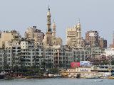 Waterfront and Al-Mursi Mosque, Alexandria, Egypt, North Africa, Africa Photographic Print by Schlenker Jochen