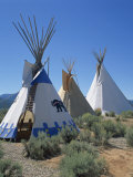 Indian Tepees, New Mexico, United States of America, North America Photographic Print by Richardson Rolf