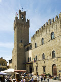 Piazza Della Liberta and Antiquarian Fair, Town Hall Tower, Arezzo, Tuscany, Italy, Europe Photographic Print by Tondini Nico