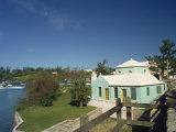 Typical Housing, Somerset Bridge, Bermuda, Central America Photographic Print by Traverso Doug