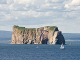 Perce Rock, Ile De Bonaventure, Gaspe Peninsula, Province of Quebec, Canada, North America Photographic Print by Snell Michael