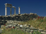 Temple of Apollo, Delos, UNESCO World Heritage Site, Greek Islands, Greece, Europe Photographic Print by Woolfitt Adam