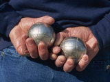 Playing Petanque, Roussillon, France, Europe Photographic Print by Thouvenin Guy