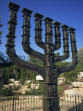 Sculpture of Menorah Near the Knesset in Jerusalem, Israel, Middle East Photographic Print by Simanor Eitan