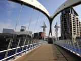 Lowry Bridge over the Manchester Ship Canal, Salford Quays, Greater Manchester, England, UK Photographic Print by Richardson Peter