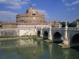 Ponte S Angelo over the River Tevere and the Castel S Angelo in Rome, Lazio, Italy, Europe Photographic Print by Merten Hans Peter