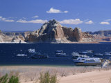 Boats Used for Recreation Moored in Wahweap Marina on Lake Powell in Arizona, USA Photographic Print by Tomlinson Ruth