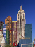Skyline of the New York New York Hotel and Casino, in Las Vegas, Nevada, USA Photographic Print by Tomlinson Ruth