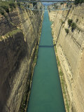 Corinth Canal, Peloponnese, Greece, Europe Photographic Print by Simanor Eitan