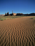 Sand Ripples and Rock Formations in Monument Valley, Arizona, USA Photographic Print by Tovy Adina