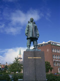 Statue of Roald Amundsen, First to Reach the South Pole, Tromso, Norway, Scandinavia, Europe Photographic Print by Renner Geoff