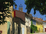 Colourful Houses and Church, Puyloubier, Near Aix-En-Provence, Bouches-Du-Rhone, Provence, France Photographic Print by Tomlinson Ruth
