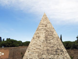 Pyramid, Rome, Lazio, Italy, Europe Photographic Print by Tondini Nico