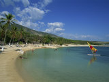 Beach at the Kyona Beach Club, Near Port Au Prince, Haiti, West Indies, Caribbean Photographic Print by Murray Louise