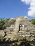 High Temple, the Highest Temple at the Mayan Site at Lamanai, Lamanai, Belize, Central America Photographic Print by Jane Sweeney