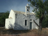 Typical Whitewashed Church Near Kritsa, Crete, Greek Islands, Greece, Europe Photographic Print by Short Michael
