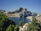 Lindos Acropolis on the Island of Rhodes, Dodecanese, Greek Islands, Greece Photographic Print by Teegan Tom