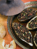 Arabic Food, Stuffed Aubergines, Middle East Photographic Print by Tondini Nico