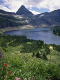 Hidden Lake, with Mount Reynolds Behind, Glacier National Park, High Rocky Mountains, Montana, USA Photographic Print by Renner Geoff