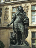 Statue of Louis Xiv, Le Marais, Paris, France Photographic Print by Terry Sheila