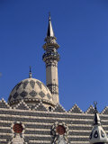 Dome and Minaret of the Darwish Mosque, Amman, Jordan, Middle East Photographic Print by Short Michael