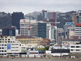 Wellington City Viewed from the Interislander Ferry, Wellington, North Island, New Zealand, Pacific Photographic Print by Smith Don