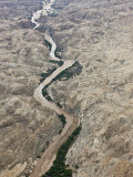 Aerial Photo of the Omaruru River, Namibia, Africa Photographic Print by Milse Thorsten