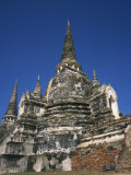 Buddhist Temple of Wat Phra Si Sanphet in Ayutthaya, Thailand, Southeast Asia Photographic Print by Wilson Ken