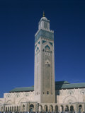 Hassan II Mosque, Casablanca, Morocco, North Africa, Africa Photographic Print by Tovy Adina