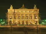 Facade of L'Opera De Paris, Illuminated at Night, Paris, France, Europe Photographic Print by Rainford Roy