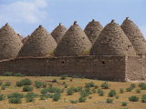 Stone Built Beehive Houses Now Used as Cattle Byres and Granaries, Kurdistan, Anatolia, Turkey Photographic Print by Woolfitt Adam