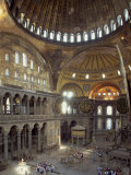 Interior of the Santa Sofia Mosque, Originally a Byzantine Church, Istanbul, Turkey Photographic Print by Woolfitt Adam
