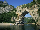 Pont D&#39;Arc, Rock Arch over the Ardeche River, in the Ardeche Gorges, Rhone Alpes, France Photographic Print by Tomlinson Ruth