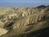 Arid Hills at Wadi Qelt and the Valley of the River Jordan in Judean Desert, Israel, Middle East Photographic Print by Simanor Eitan