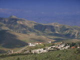 Jordan Valley Town of Maalei Ephraim, with Mount Sartaba in Background, Israel, Middle East Photographic Print by Simanor Eitan