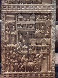 Detail of North Gate of the Great Stupa, Sanchi, Near Bhopal, Madhya Pradesh State, India Photographic Print by Woolfitt Adam