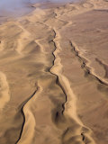 Aerial of Sand Dunes, Skeleton Coast Park, Namibia, Africa Photographic Print by Milse Thorsten