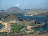 Coastline at Bartolome in the Galapagos Islands, Ecuador, South America Photographic Print by Sassoon Sybil