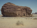 Rock Tombs in Sandstone Inselberg, Mada'In Salih, Saudi Arabia, Middle East Photographic Print by Ryan Peter