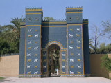 Reconstruction of the Ishtar Gate, Entrance to Babylon, Mesopotamia, Iraq, Middle East Photographic Print by Thouvenin Guy